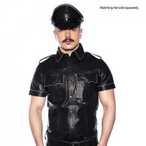 Prowler RED Police Shirt Piped Black