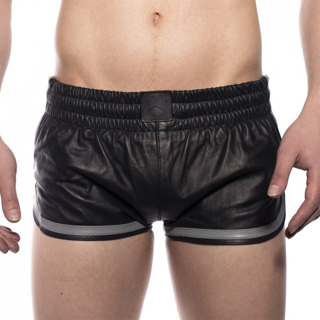 Prowler RED Leather Sports Shorts Grey