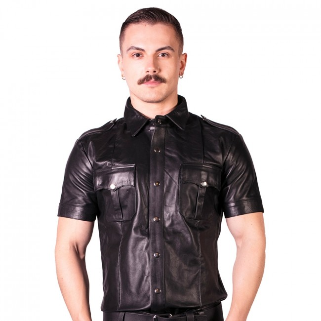 Prowler RED Slim Fit Police Shirt Black