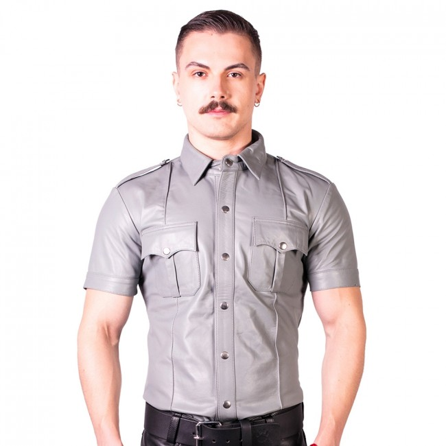 Prowler RED Slim Fit Police Shirt Grey