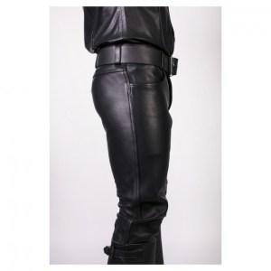 Prowler RED Leather Jeans Black