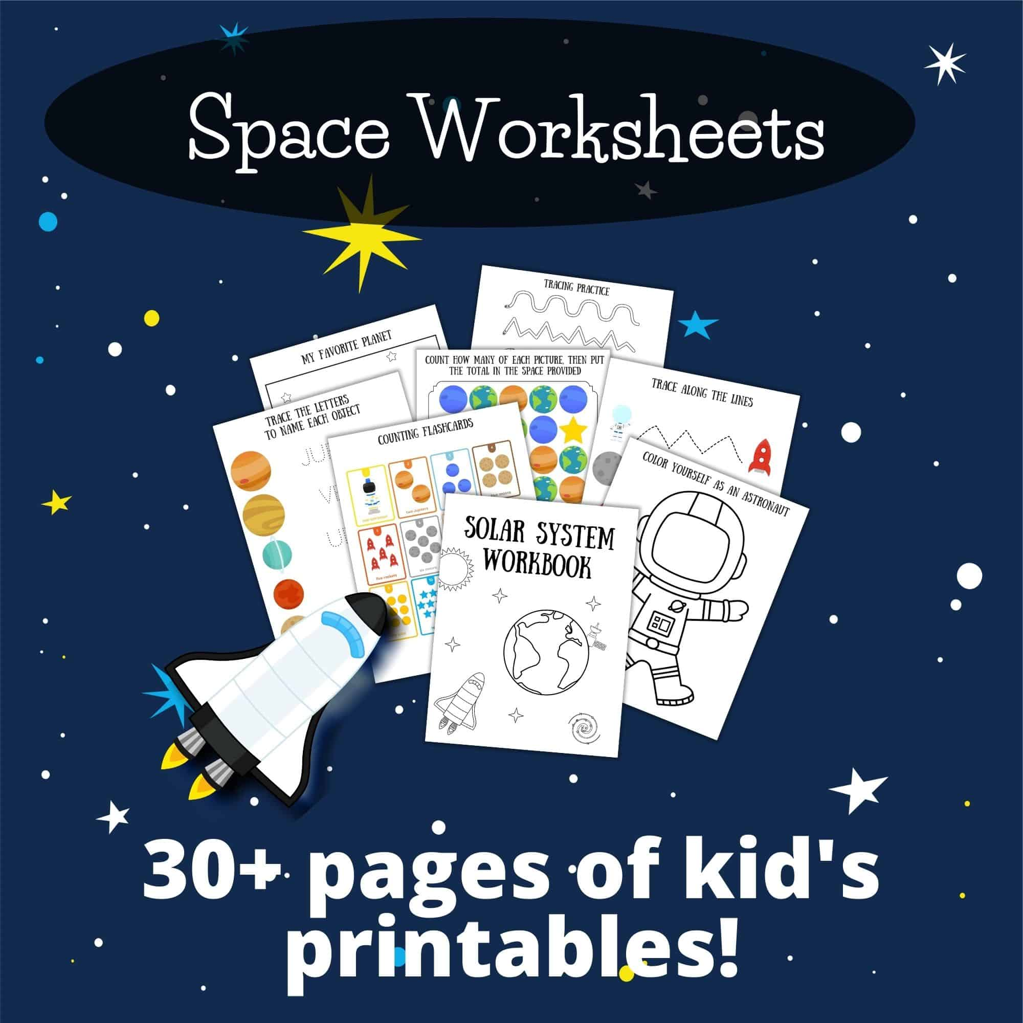 Space Worksheets For At Home Learning The Life Of A Navy
