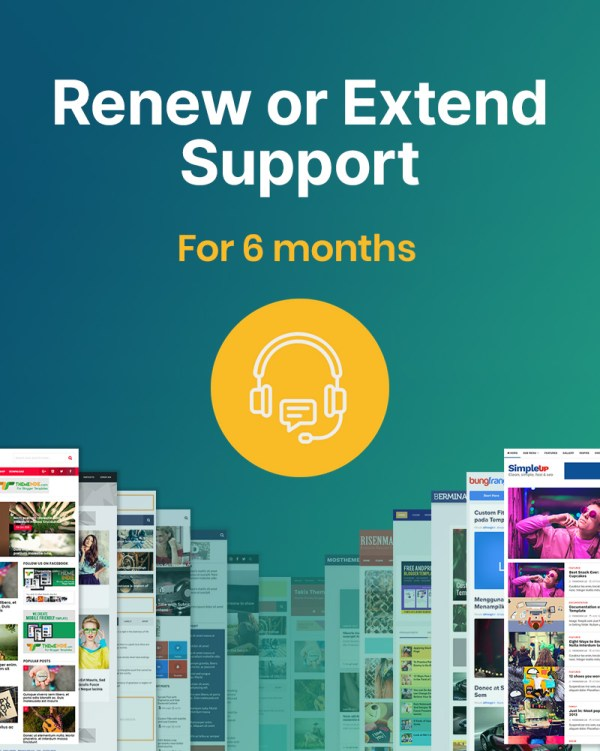 Renew or extend support to get help from Themeindie for 6 months