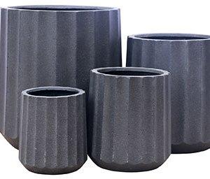 Jackson Cylinder Pot Dark Grey The Plant Lounge