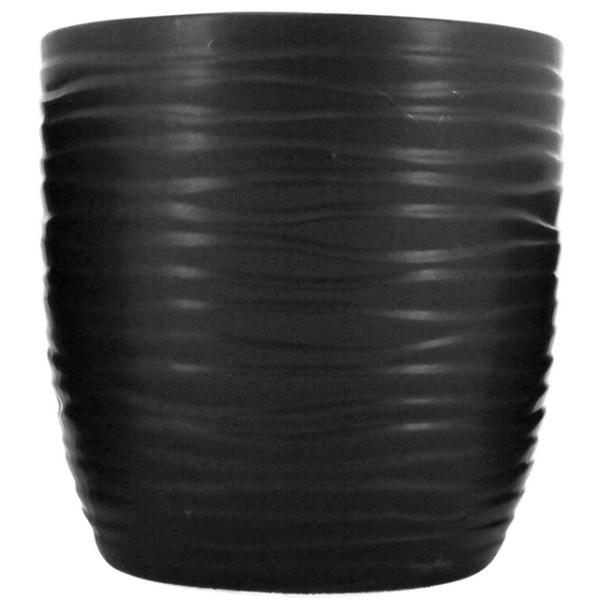 Ruffled Planter Black