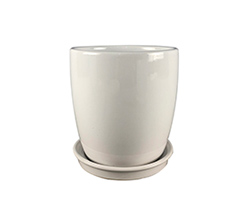 Wei Ceramic Planter with Saucer The Plant Lounge