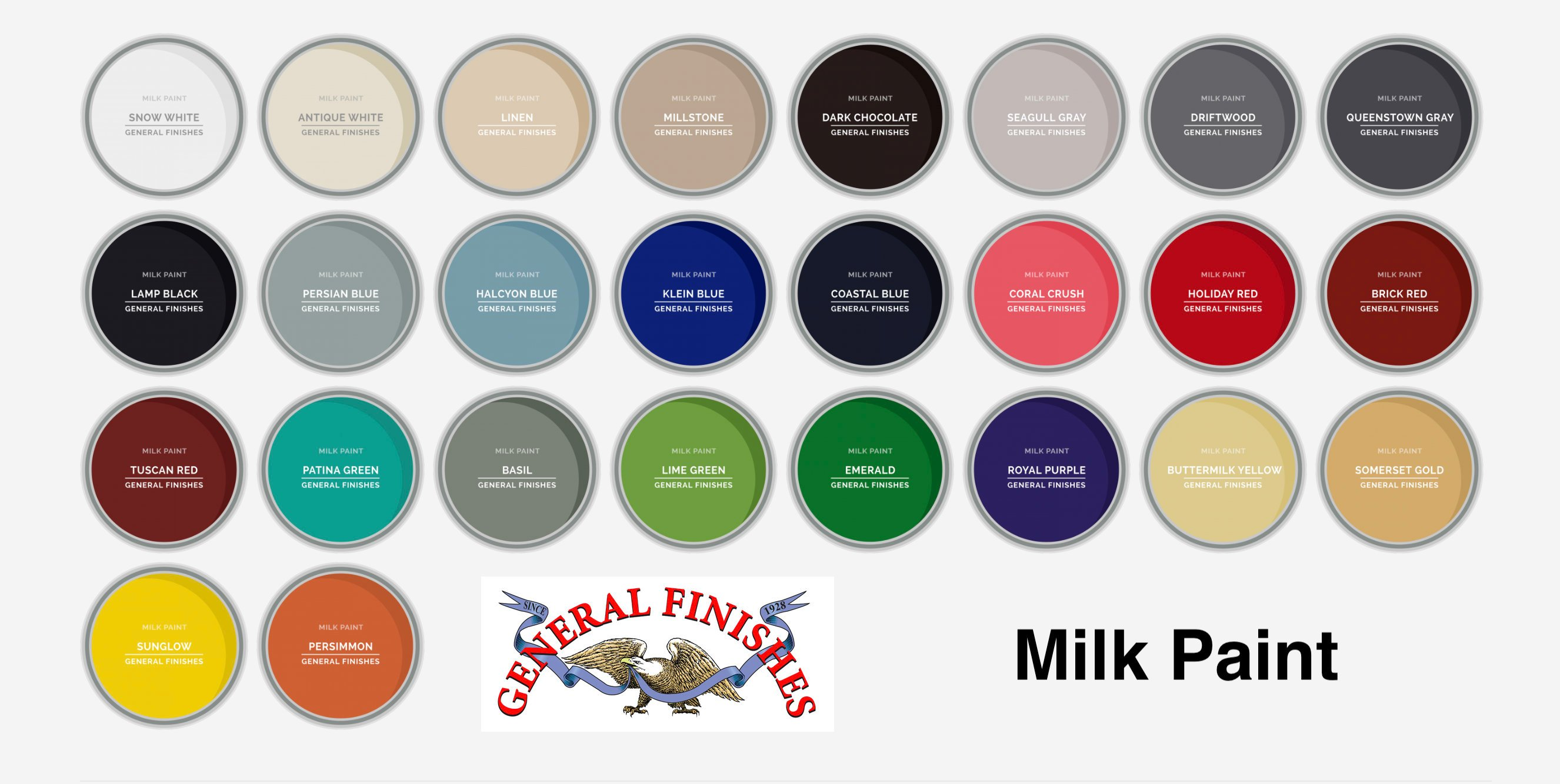 General Finishes Milk Paint Seagull Gray Quart
