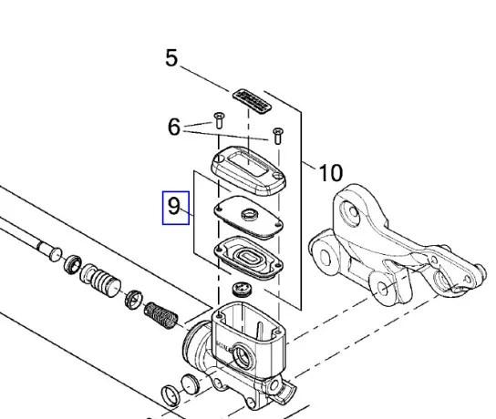 41700478 Harley-Davidson Gasket Kit Master Cylinder