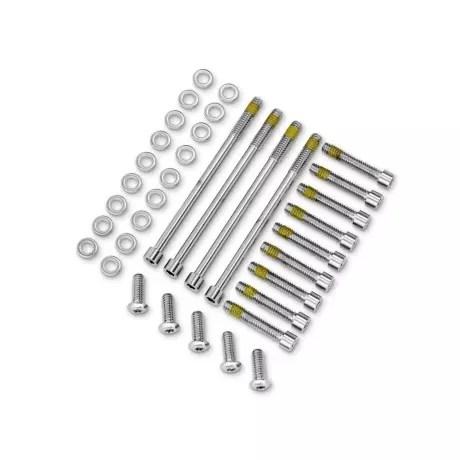 60801-06 Screws Primary Cover, chrome Dyna 06-17 & Softail