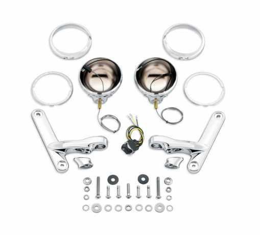 69818-06 Custom Auxiliary Lighting Bracket Kit Chrome at