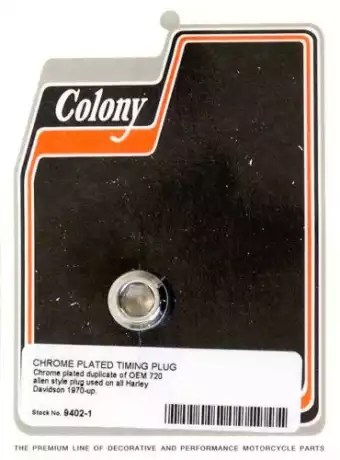 Colony Timing Hole Plug Chrome For Big Twin 70 13 At