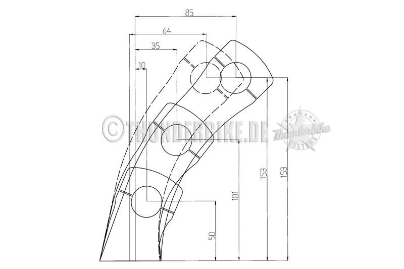 Riser Pullback Alu poliert für diverse Modelle 2