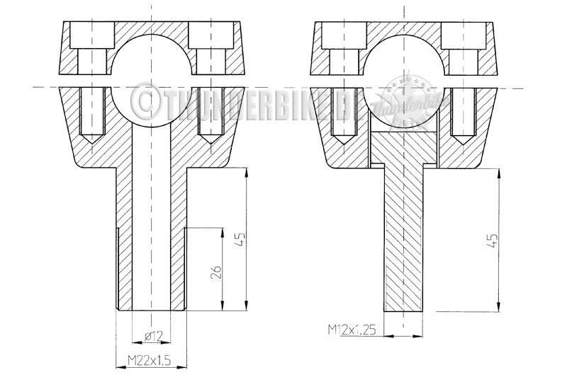 Riser Pullback Alu poliert für diverse Modelle 6