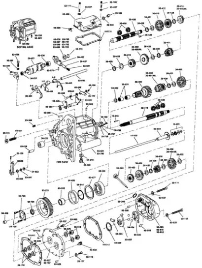 Harley Davidson 6 Speed Transmission Diagram : harley, davidson, speed, transmission, diagram, RevTech, Transmission, Parts, Thunderbike