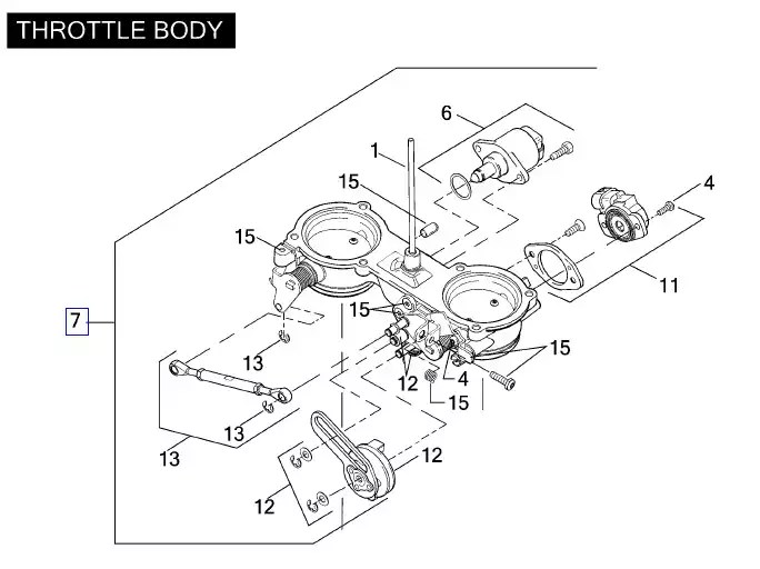 27657-01 Harley-Davidson Throttle Body Assembly for VRSC