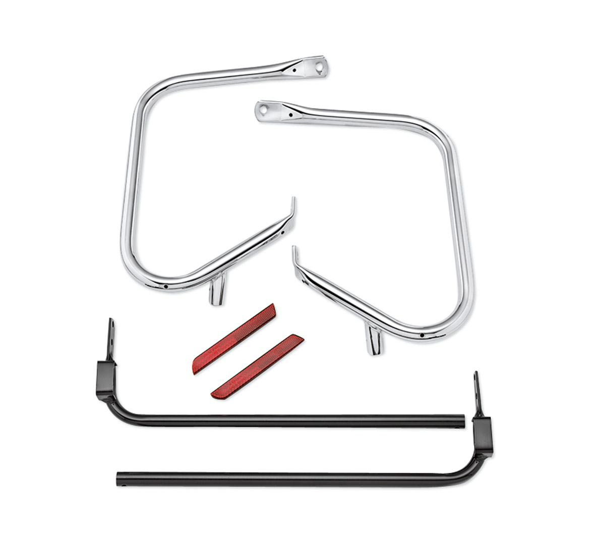 49282-09B H-D Rear Saddlebag Guard Kit chrome Touring 09-13