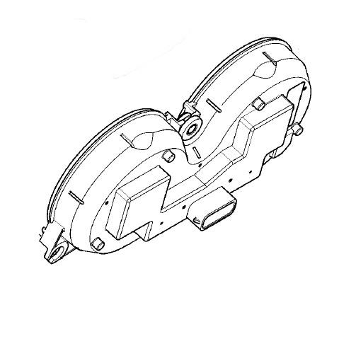 70900122C Harley-Davidson Instrument Module Cluster Speedo