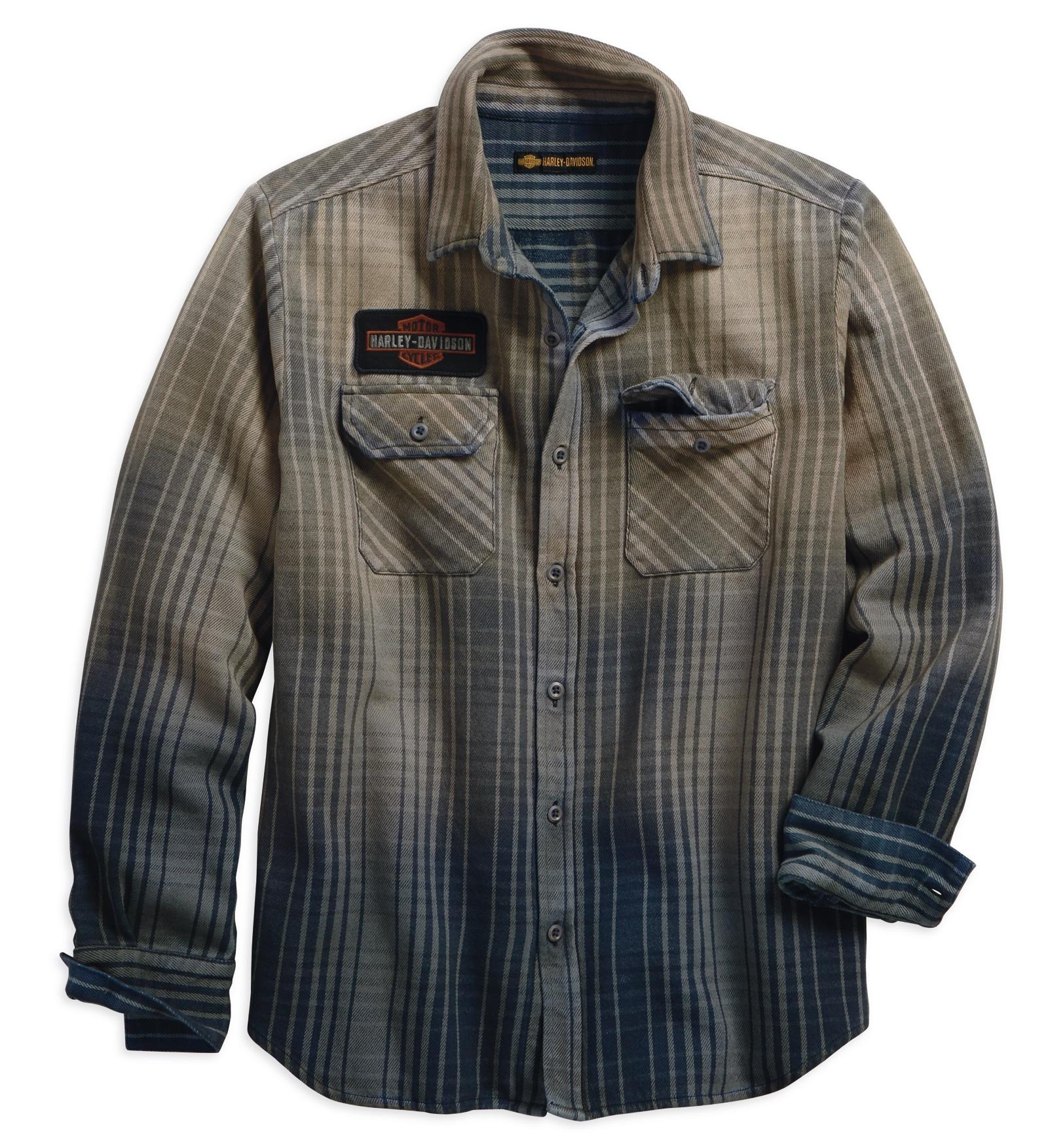 hight resolution of  h d motorclothes harley davidson schematic plaid slim fit shirt 99097 18vm