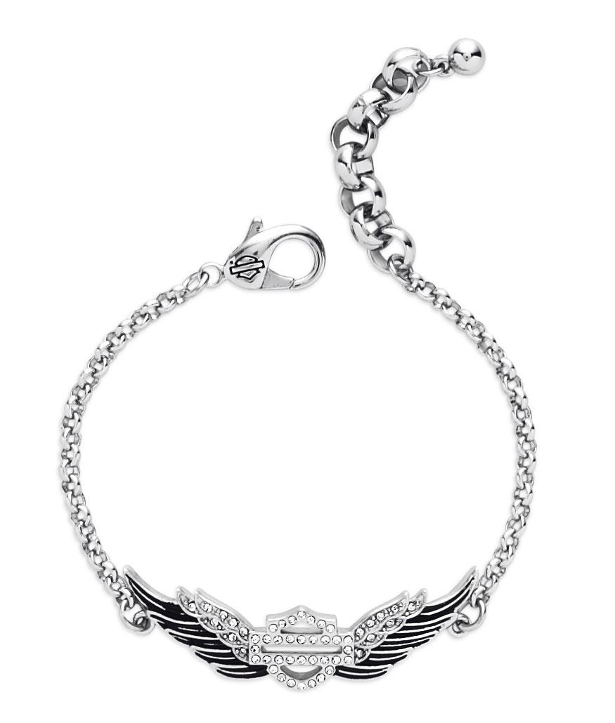 99508-15VW Harley-Davidson Bracelet Winged Bar & Shield at