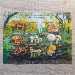 """Tansania Motivset """"Mushrooms and Insects of the World"""""""