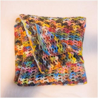 Strickschal bunt