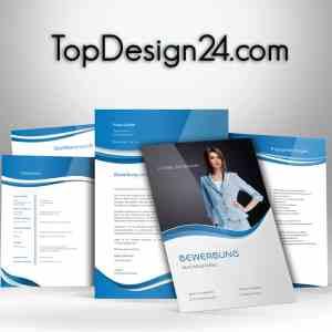 Muster Bewerbung - Blue -TopDesign24