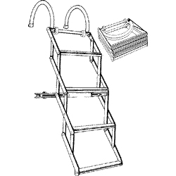 BOSTON WHALER AND OTHER LOW FREEBOARD BOAT LADDERS Wesbar