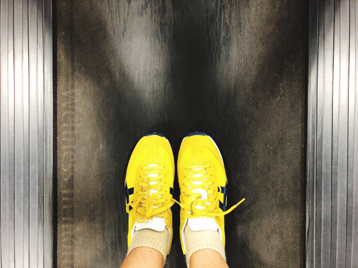 The right shoes for the transition to running on the treadmill.