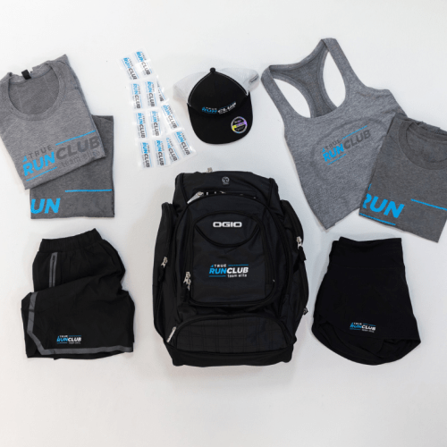 Introducing the TRUE Run Club with TRUE Fitness swag.