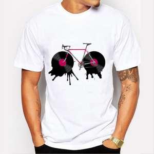 tshirt vélo course disco disque musique