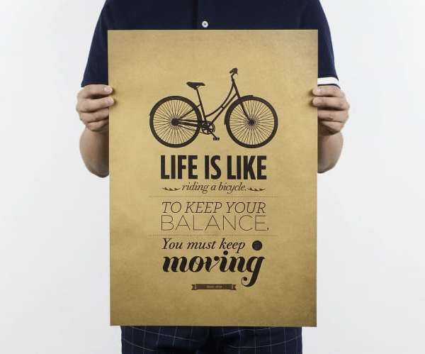 "affiche vélo vintage ""life is bike"""
