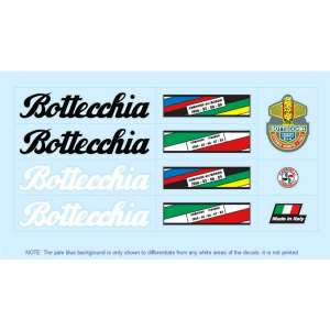 Bottecchia set stickers velo vintage