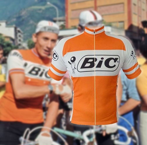 maillot cycliste vintage bic
