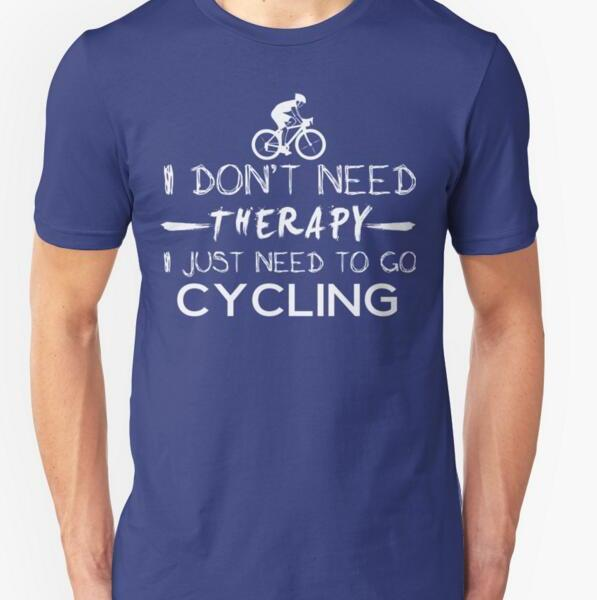 tshirt cycling therapy passionne fan vélo cyclisme