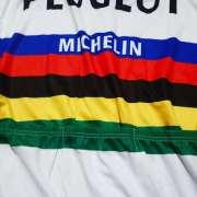 maillot cyclisme vintage peugeot champion monde