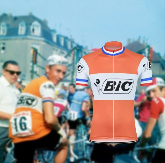 maillot cycliste vintage bic anquetil