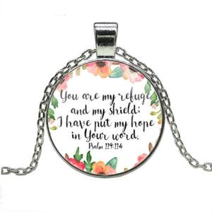 you are my refuge and shield necklace