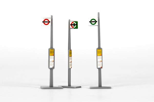 EFE 99619 OO Bus Stops x 3, WaltonsModels.co.uk