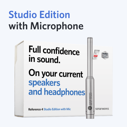 Sonarworks Reference 4 Studio Edition with Mic now packaged with Jones-Scanlon Recording Studio Monitors