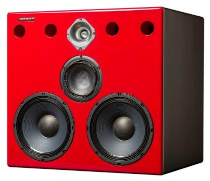 Jones-Scanlon Baby Reds studio monitors - recording engineering, audio and film post production, sound track mastering, audio mixing, sound mixing, recording studio gear. Far field monitoring systems.