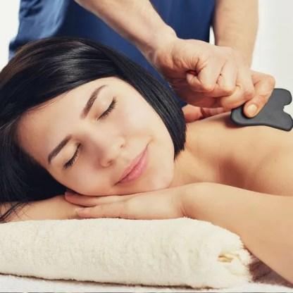 Gua Sha massaaž. Wellness Studio tervisetooted massaažiõli