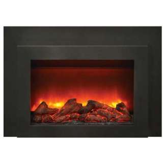 30 Electric Fireplace Insert with Dual Steel Surround