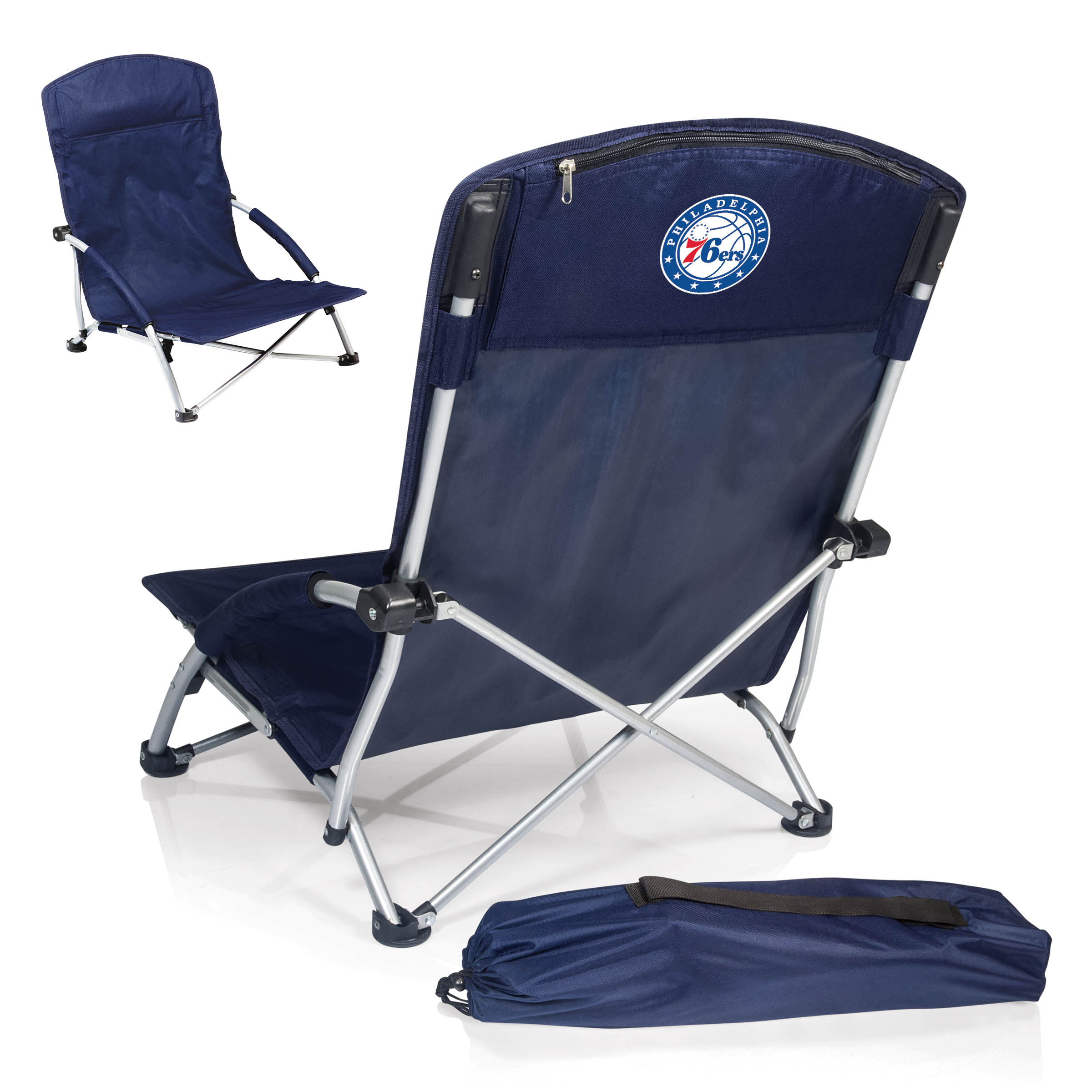 Portable Beach Chair Philadelphia 76ers Navy Malibu Picnic Tote By Picnic Time