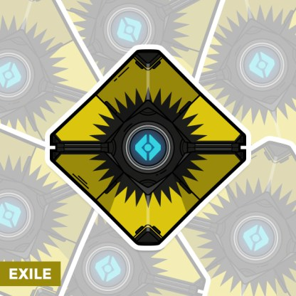 Destiny Exile ghost shell sticker by WildeThang