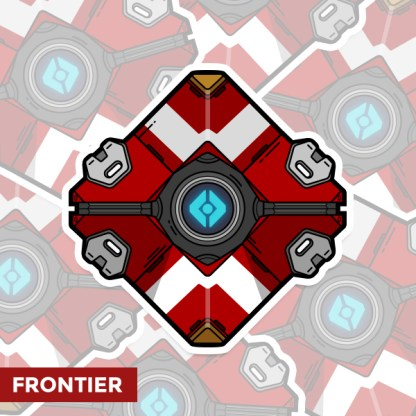 Destiny Frontier ghost shell sticker by WildeThang