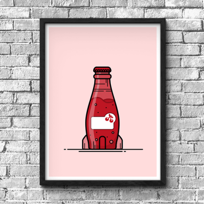 Nuka Cherry Fallout Gaming Poster, Fallout fan art, gamer gift, gaming print