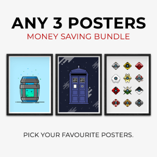 Money Saving Bundle - 3 Poster Bundle, gaming posters, pick your favourite posters