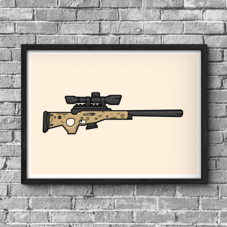 Fortnite Bolt Action Sniper Rifle gaming poster by WildeThang