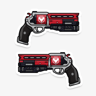 Destiny Not Forgotten vinyl die-cut gaming weapon sticker by WildeThang