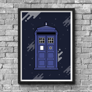 Doctor Who Tardis poster designed by WildeThang